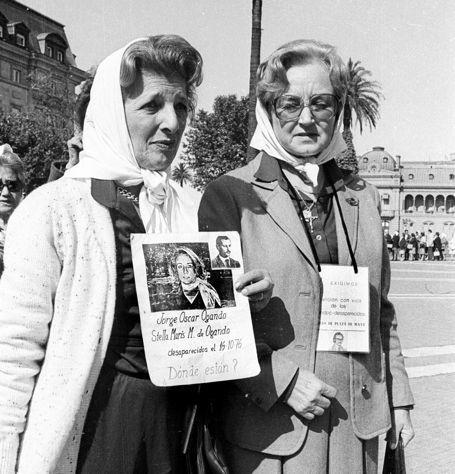 Delia Cecilia Giovanola - Abuela de Plaza de Mayo en los 80