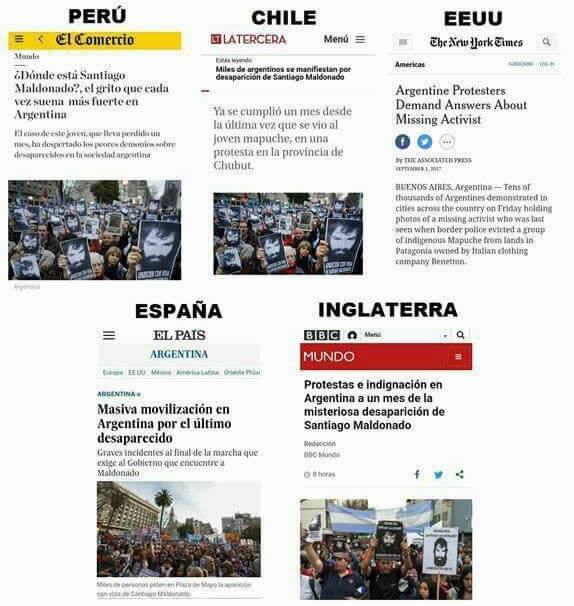 denuncias internacionales en Argentina