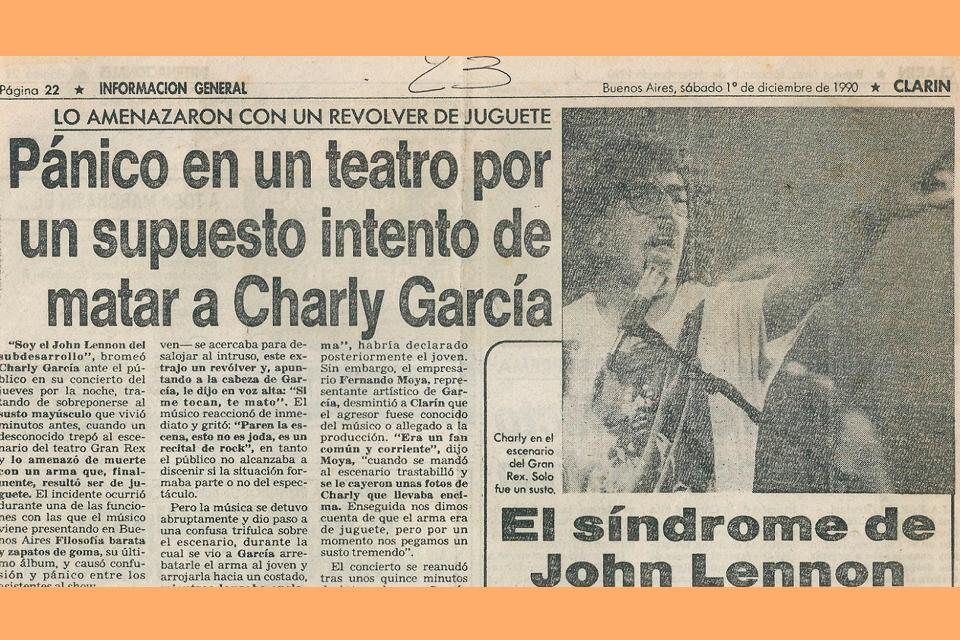 El día que intentaron matar a Charly García