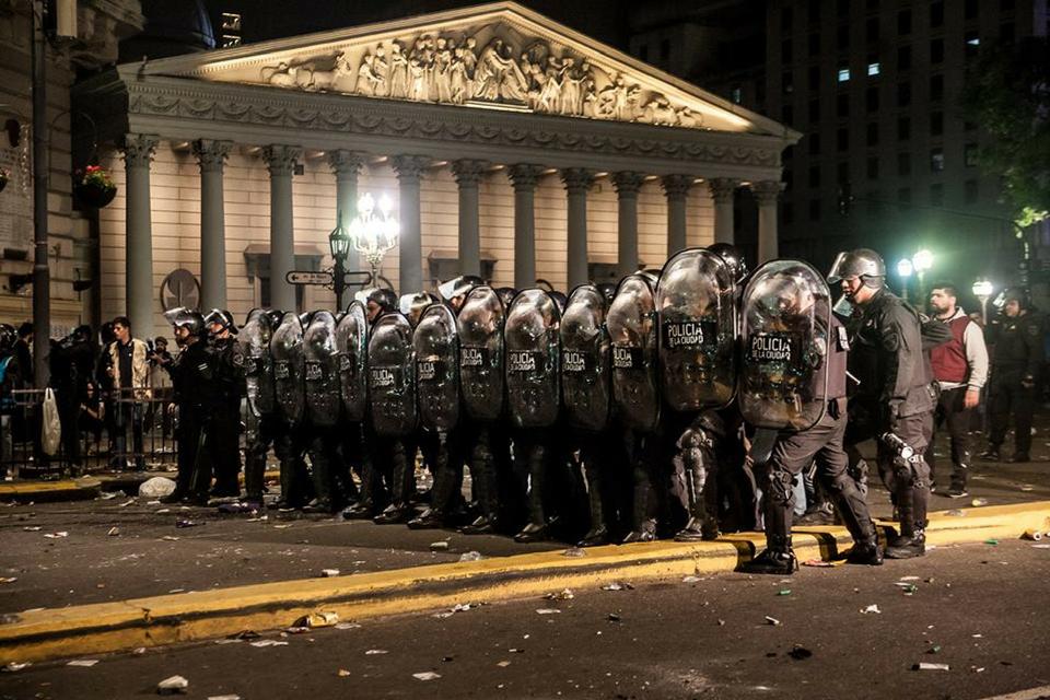 represión en la protesta social